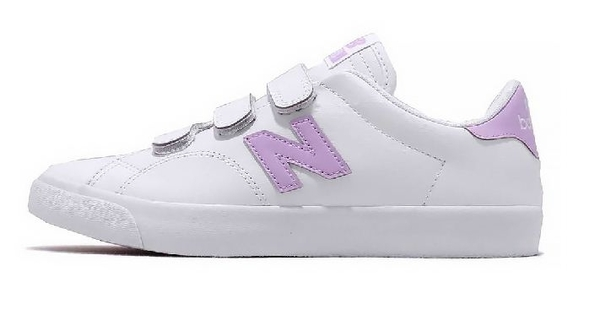 New Balance 女款白紫LOGO運動休閒鞋-NO.AM210VMP