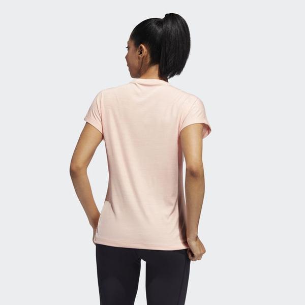 ADIDAS BADGE OF SPORT 女裝 短袖 訓練 慢跑 吸濕 排汗 基本款 粉【運動世界】EB4496