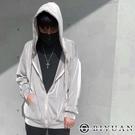 【OBIYUAN】外套 韓國製 粗坑條 高品質 寬鬆 男女可穿 連帽外套 【P98845】