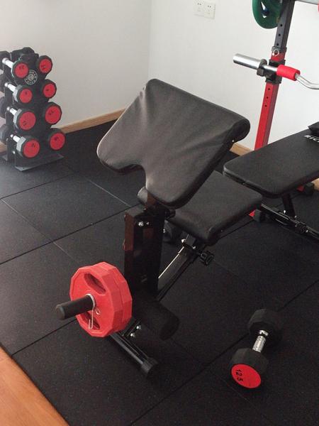 健身房專用彈性橡膠地墊【8片組】