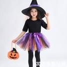 萬聖節服裝 兒童萬聖節服裝親子女童公主裙巫婆女巫cos裝扮化妝舞會演出服 『3C環球數位館』