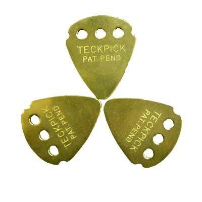 ★集樂城樂器★Dunlop Signature(Teckpick)鐵質感吉他彈片-金銅(12片裝)