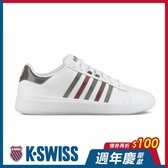 K-SWISS Pershing Court Light SE時尚運動鞋-女-白/黑/紅