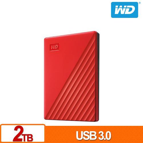 (2019新款) WD My Passport 2TB 紅色 2.5吋 USB3.0 外接硬碟 WDBYVG0020BRD-WESN