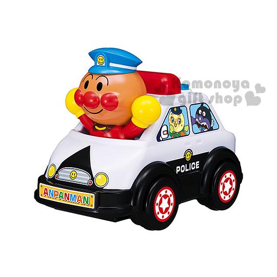 〔小禮堂嬰幼館〕麵包超人 警車造型聲動玩具車《黑白.舉雙手.盒裝》適合1.5歲以上 4971404-31312