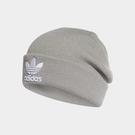 adidas 毛帽 Trefoil Beanie 灰 白 三葉草 帽子 男女款 【ACS】 DH4296