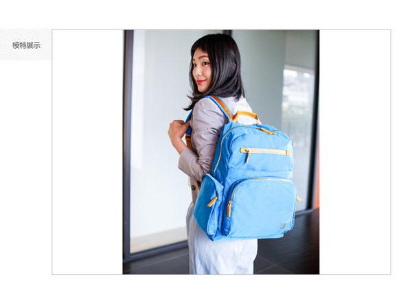 SUMDEX  12.1吋+10吋平版多隔層聚光後背包NON-734PL湖水藍