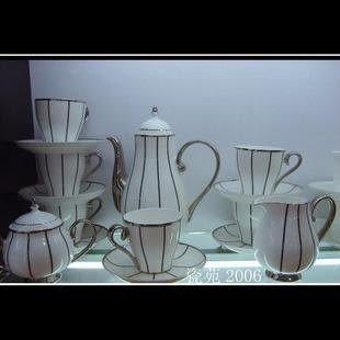 新款上市 景德鎮骨質瓷15頭咖啡具A001