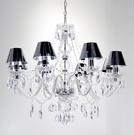 現代典雅8燈鏡面PVC罩吊燈-BNL00...