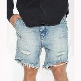OneTeaspoon 牛仔短褲 破褲 MR PINKS -藍(男)