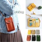 斜背包-方塊雙層手機袋長夾斜背包(4.7吋適用)-Catsbag-00180904