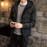夾克外套-連帽後背時尚個性小丑印花夾棉男外套3色73qa35【時尚巴黎】