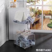 衛生間髒衣服收納架衣物收納籃髒衣籃置物架家用洗衣機多層洗衣籃ATF 青木鋪子