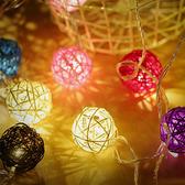 【BlueCat】室內裝飾LED泰國藤球燈串 (4米20燈)