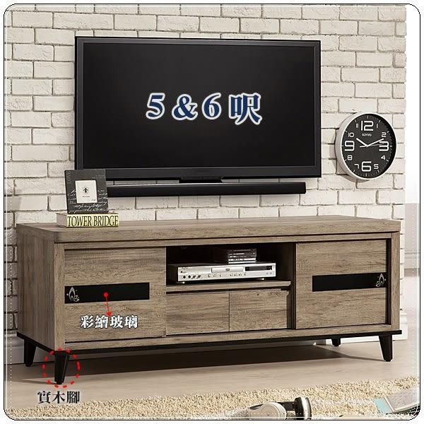 【水晶晶】ZX8353-6伊莎4尺木心板推門電視櫃(圖一)