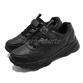 Fila 休閒鞋 J813V 黑 全黑 女鞋 大童鞋 中童鞋 魔鬼氈 運動鞋 斐樂 【ACS】 3J813V000