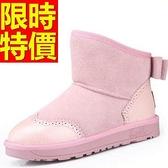 中筒雪靴-甜美英倫潮流糖果色可愛牛皮女靴子3色62p11【巴黎精品】