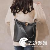 帆布包-大包包女新款韓版大容量百搭水桶包簡約單肩包斜挎包-奇幻樂園