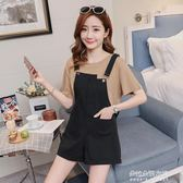 孕婦背帶褲新款時尚寬鬆外穿韓版兩件套托腹吊帶褲  朵拉朵衣櫥