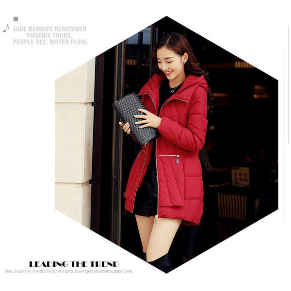 BRIGA-HP-ZTFS0170專櫃設計師款長袖加厚連帽拉鍊中長款羽絨服