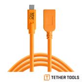 TETHER TOOLS CUCA415-ORG TETHER Pro 傳輸線 USB-C TO USB A 延長線 4.6M 公司貨