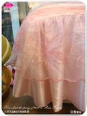 法式典藏˙浪漫臻愛系列『巴黎麗晶』粉色*╮☆六件式專櫃高級床罩組6*6.2尺