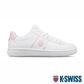 【超取】K-SWISS Court Vittora 時尚運動鞋-女-白/粉紅