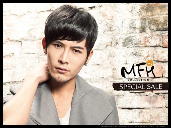 MFH韓國男生髮片◆斜瀏海局部髮片(包覆頭頂)【E049002】*/男假髮髮片/瀏海髮片/男 髮片