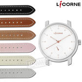 LICORNE 力抗 / LT124LWWR / MYO 藍寶石水晶玻璃 自由搭配 真皮手錶 白x玫瑰金 38mm