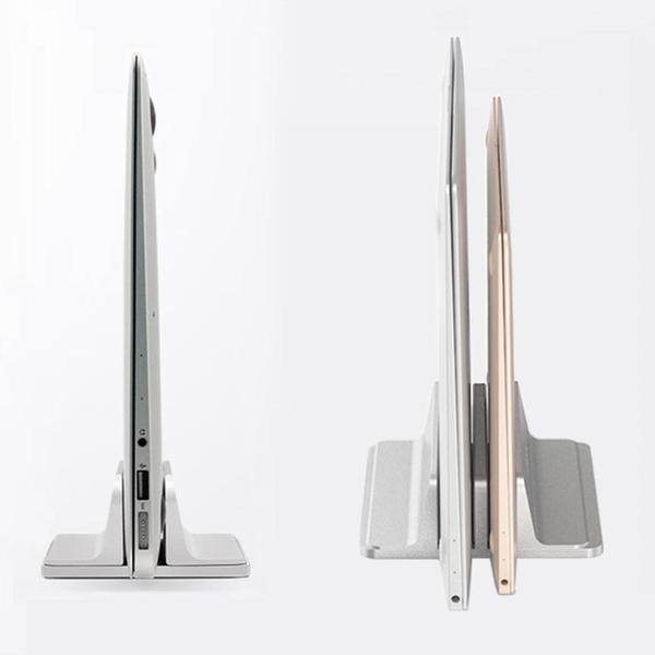 筆記本支架 收納豎立式電腦macbook桌面上托金屬架子mac mini通用