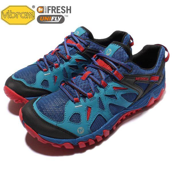 Merrell 戶外鞋 All Out Blaze Aero Sport 水陸運動鞋 越野 登山 藍紅 黑 休閒鞋 男鞋【PUMP306】 ML32833
