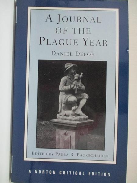【書寶二手書T1/翻譯小說_IE9】A Journal of the Plague Year: Authoritative Text…