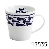 【日本製】貓小紋系列 白磁馬克杯 貓咪海浪圖案 SD-7018 - 日本製 貓小紋系列
