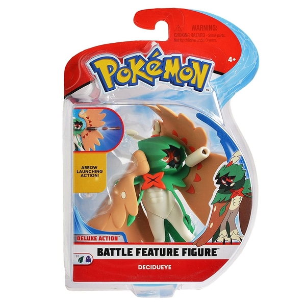 [9美國直購] Pokemon 精靈寶可夢 戰鬥人物公仔 4.5 Inch Battle  Feature Figure, Features Arrow Attack Decidueye
