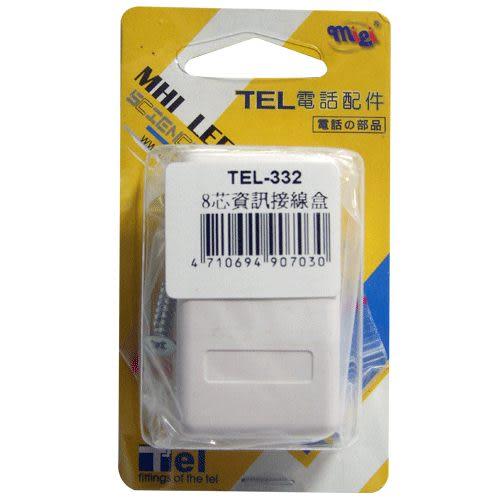 《鉦泰生活館》TEL電話配件 8芯資訊接線盒 TEL-332