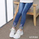 女童牛仔褲 2019秋季新款加韓版時尚氣質潮流洋氣女孩長褲  YN1182『寶貝兒童裝』
