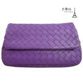 【巴黎站二手名牌專賣店】*現貨*Bottega Veneta BV 真品*小羊皮編織迷你鍊帶包(紫色)