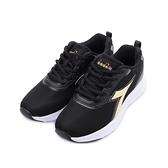 DIADORA 生活時尚輕量跑鞋 黑金 DA31650 女鞋