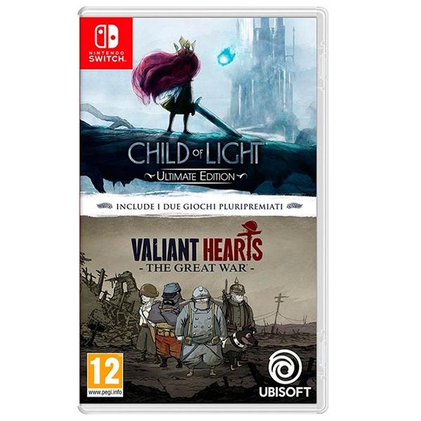 任天堂 NS Switch Child of Light 光明之子 + Valiant Hearts 英勇之心:偉大戰爭