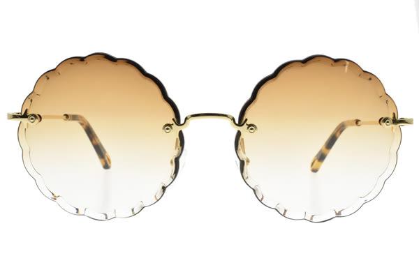 Chloe 太陽眼鏡 CE142S 742 (金-漸層棕鏡片) 甜美花漾琥珀大框款 墨鏡 # 金橘眼鏡