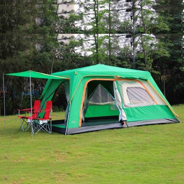 全自動帳篷 速開雙層多野營 露營 防雨【藍星居家】