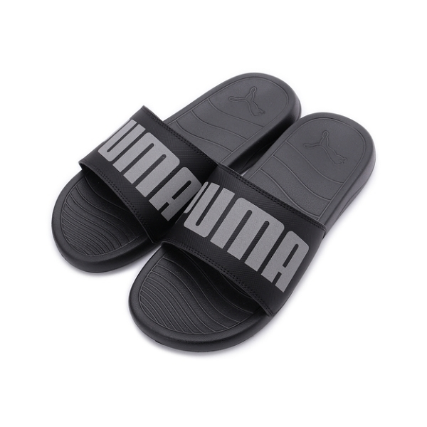 PUMA POPCAT 20 REFLECTIVE 運動拖鞋 黑灰 368677-01 男鞋