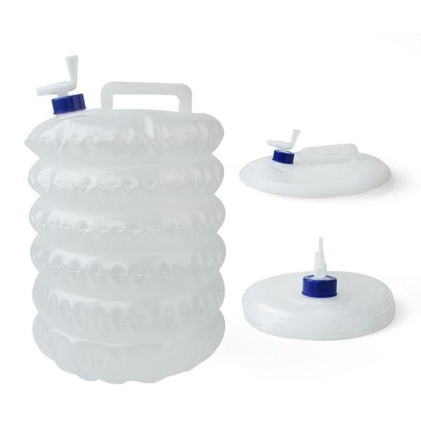 戶外摺疊水桶帶水龍頭車載PE食品級5L10L15L飲水袋野營伸縮儲水桶 【夏日新品】
