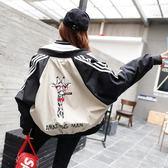 棒球服女春秋2018新款韓版原宿風寬鬆