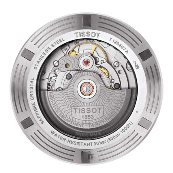 限量 TISSOT 天梭 Seastar 1000 海洋之星300米潛水機械錶-黑x銀/43mm T1204071105100