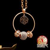 項鍊 迷幻花影 富貴環抱項鍊 含開光 臻觀璽世 IS0371