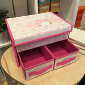 618好康鉅惠 布藝內衣收納盒抽屜式內褲儲物盒可折疊有蓋