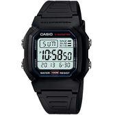【台南 時代鐘錶 CASIO】卡西歐 宏崑公司貨 W-800H-1A 開發票 長效多功能電子錶