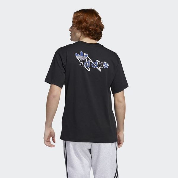 Adidas Originals BRUSH STROKE 2 男裝 短袖 休閒 塗鴉 三葉草 棉質 黑【運動世界】GD2108