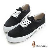 Hush Puppies 經典中性咖啡紗休閒鞋-黑色